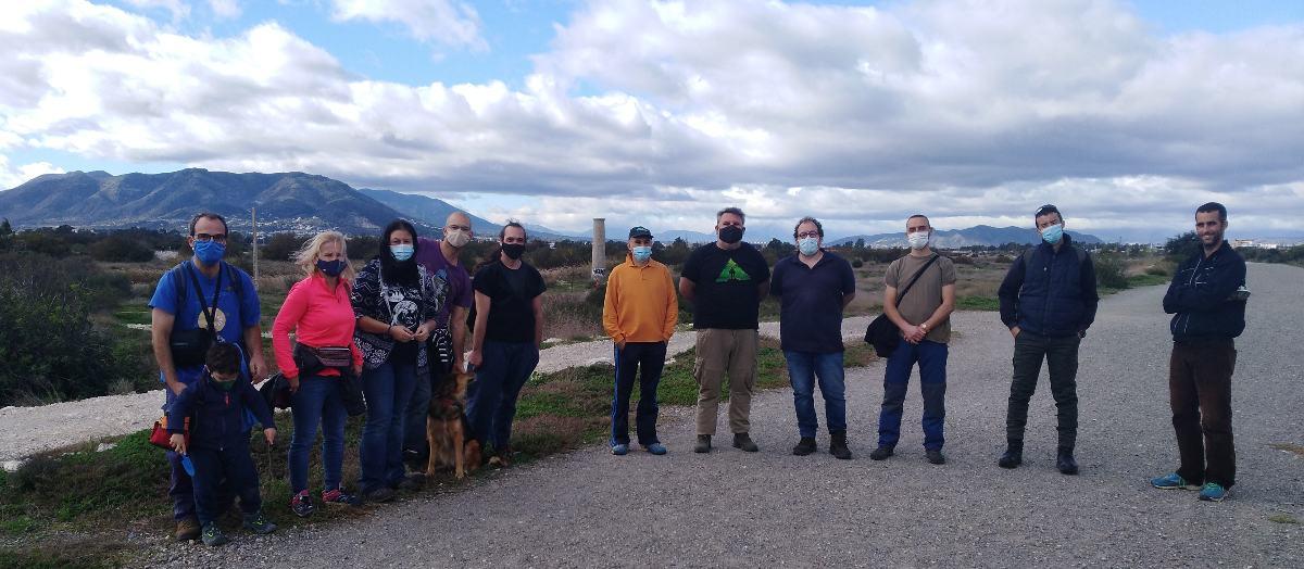 Tras las reposiciones de marras 2020 en el Guadalhorce. Equipo de Almijara